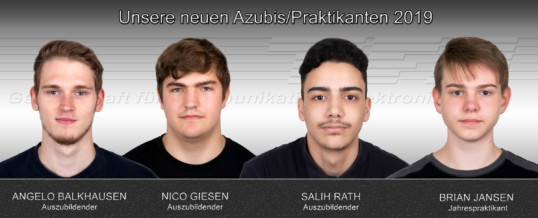Neue Azubis 2019